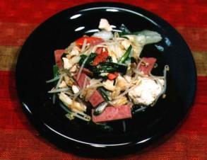 野菜チャンプルー (沖縄風野菜の炒め物)の写真