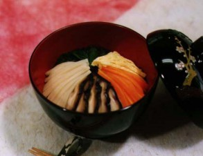 菜飯(セーファン) (五色具のせ汁かけご飯)の写真