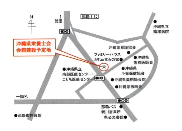 会館建設場所地図