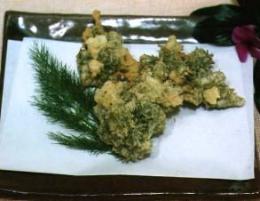ウィーチョーバーの天ぷら (ういきょうの天ぷら)の写真