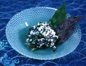 ハンダマの酢みそ和え (すいぜんじなの酢みそ和え)の写真