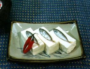 スクガラスと豆腐 (あいごの塩辛と豆腐)の写真